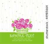 Card With Vector Stylized Rose...