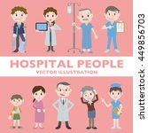 people in hospital character...   Shutterstock .eps vector #449856703