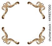 vintage baroque ornament. retro ... | Shutterstock .eps vector #449857000