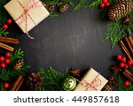 christmas or new year dark... | Shutterstock . vector #449857618