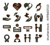 donate icon set | Shutterstock .eps vector #449860510
