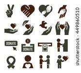 donate icon set | Shutterstock .eps vector #449860510