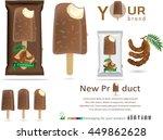 tamarind ice cream with... | Shutterstock .eps vector #449862628