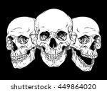 hand drawn line art... | Shutterstock .eps vector #449864020