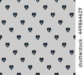 black and white heart vector... | Shutterstock .eps vector #449864629
