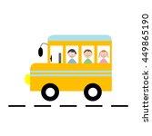 school bus vector illustration | Shutterstock .eps vector #449865190