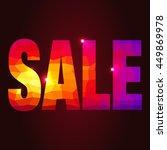 discount background. sale.... | Shutterstock .eps vector #449869978