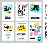 funny and eye catching sale... | Shutterstock .eps vector #449874790