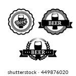 retro style set label of beer | Shutterstock .eps vector #449876020