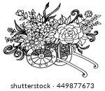 vintage wooden cart  detailed...   Shutterstock .eps vector #449877673