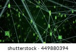 abstract technology network... | Shutterstock . vector #449880394