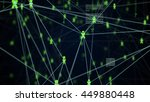 abstract technology network... | Shutterstock . vector #449880448