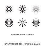 abstract circular halftone dots ... | Shutterstock .eps vector #449881138