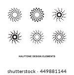 abstract circular halftone dots ... | Shutterstock .eps vector #449881144