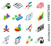 business plan icons in... | Shutterstock .eps vector #449887888