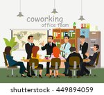businessmen in the office for a ... | Shutterstock .eps vector #449894059