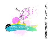 vector artistic rhythmic... | Shutterstock .eps vector #449894224
