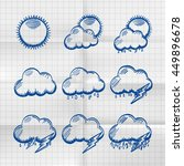 exercise book collection clouds ...   Shutterstock .eps vector #449896678