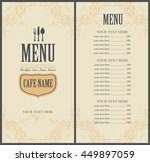 menu food and beverage for the... | Shutterstock .eps vector #449897059
