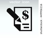 money icon  finance icon ... | Shutterstock .eps vector #449906116