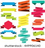 vector set of ribbons modern.... | Shutterstock .eps vector #449906140