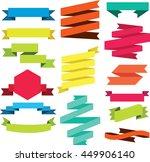 vector set of ribbons modern.... | Shutterstock .eps vector #449906140