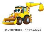 cartoon funny excavator  ... | Shutterstock . vector #449913328