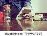 love story still life  wedding... | Shutterstock . vector #449914939