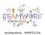 modern vector illustration... | Shutterstock .eps vector #449921134