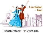 vector design of irani couple... | Shutterstock .eps vector #449926186