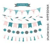 buntings set on white background | Shutterstock .eps vector #449930464