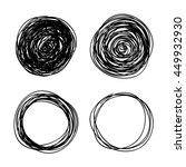 vector hand drawn scribble...   Shutterstock .eps vector #449932930