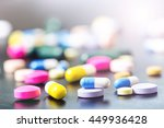 pharmacy background on a black