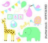 set for children's holiday... | Shutterstock .eps vector #449936980