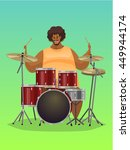 drummer  vector illustration. | Shutterstock .eps vector #449944174