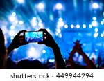 audience crowd of people use... | Shutterstock . vector #449944294