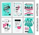 social media sale banners... | Shutterstock .eps vector #449946658