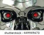 red robotic eyeballs and robot... | Shutterstock . vector #449949673