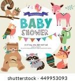 Stock vector baby shower invitation 449953093