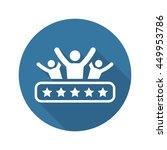 client satisfaction icon.... | Shutterstock . vector #449953786