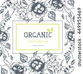organic frame. hand drawn... | Shutterstock .eps vector #449955469