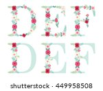 cute vintage alphabet letters... | Shutterstock .eps vector #449958508