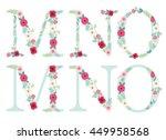 cute vintage alphabet letters... | Shutterstock .eps vector #449958568