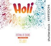 holi festival poster. vector... | Shutterstock .eps vector #449959294