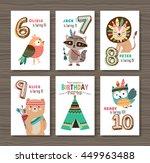 birthday cards with birthday... | Shutterstock .eps vector #449963488