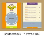 vector logo local farm products.... | Shutterstock .eps vector #449964403