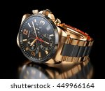men s golden wristwatch on... | Shutterstock . vector #449966164