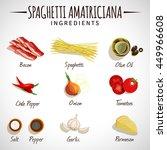 vector image. spaghetti... | Shutterstock .eps vector #449966608