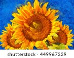 Sunflowers.van Gogh Style...