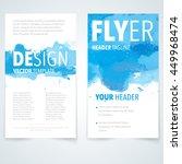 abstract vector brochure... | Shutterstock .eps vector #449968474
